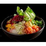 330. Lachs Poke-Salat